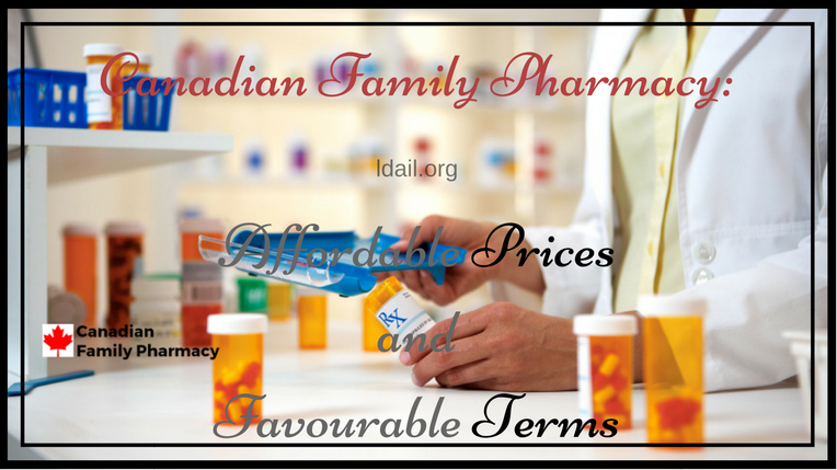 Canadian Family Pharmacy-Affordable Prices and Favourable Terms